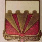 Unit Insignia of the 36th AA Battalion; The first to serve at BA-43.