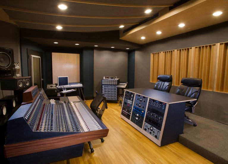 Lake House Studio Control Room