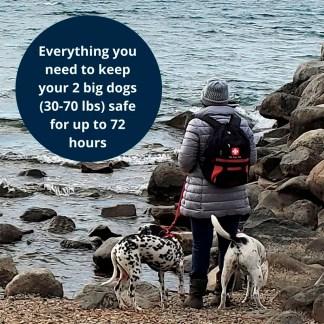 Pet Evacuation kit, Pet Survival kit, Pet Evac Pak, Ready America Pet kit, Dog survival kit, Pet Emergency Kit, Pet Earthquake kit