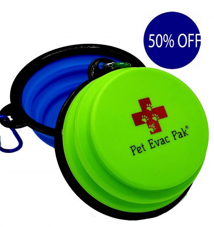 Collapsible travel pet bowls with caribeener