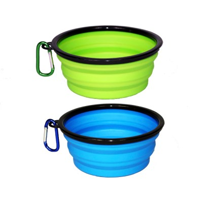 Collapsible Pet Travel Bowls with Carabineer
