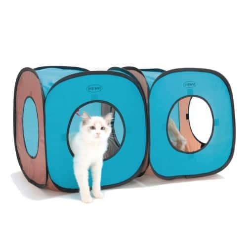 SportPet - Cat Cube Tent Housing - Blue / Grey