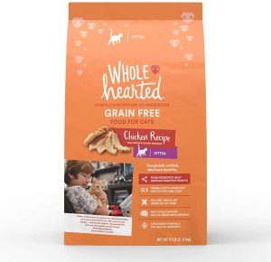 WholeHearted Grain Free Chicken Formula Dry Kitten Food