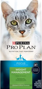 Purina Pro Plan Weight Management, High Protein Adult Dry Cat Food