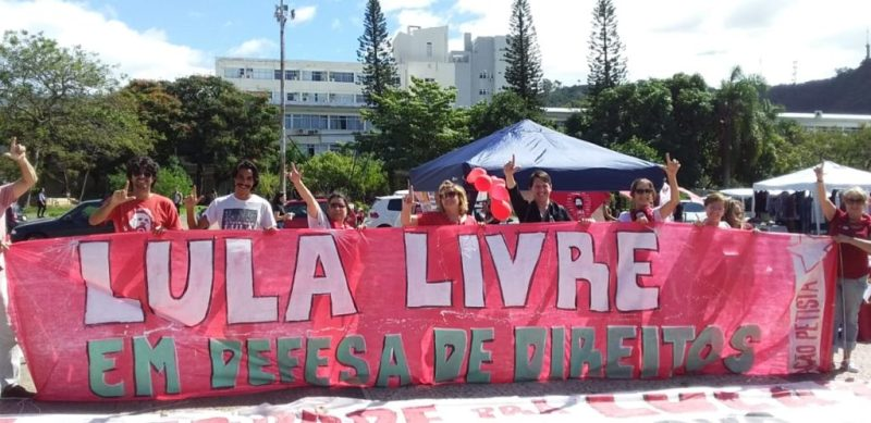Tenda Lula Livre na UFSC em Floripa
