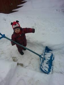froid pelleter la neige