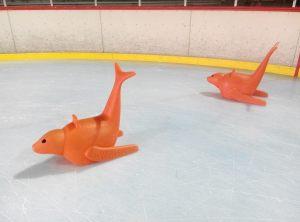 Phoques ou pingouins: patinoire