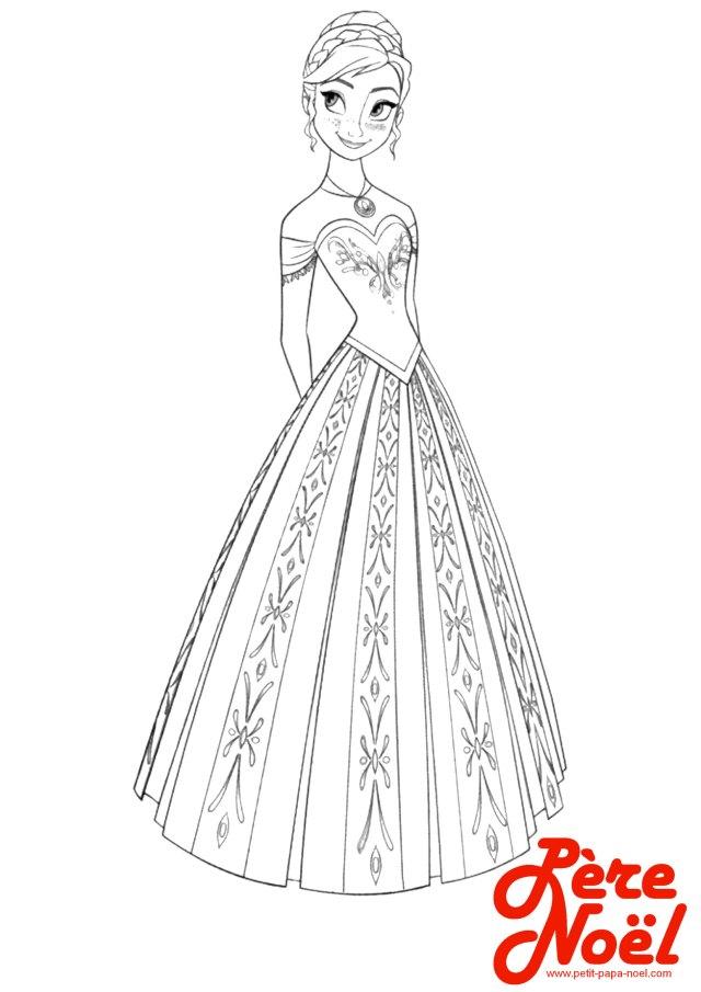 Coloriage : Princesse - Petit Papa Noël - coloriage princesse disney