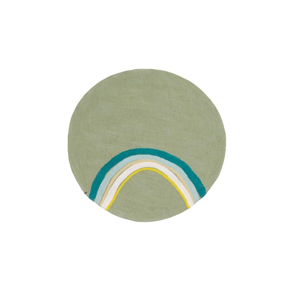 tapis rond o120 cm indreni vert tendre