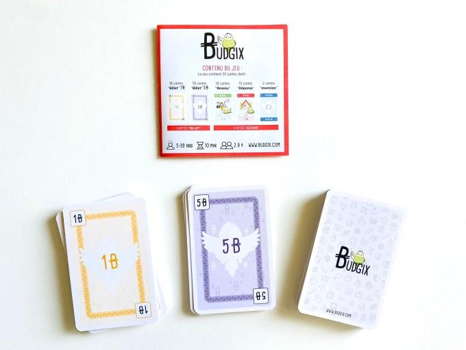 Budgix : règle du jeu et cartes