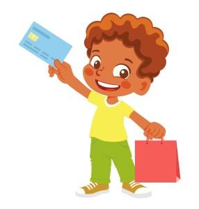Enfant avec une carte de crédit