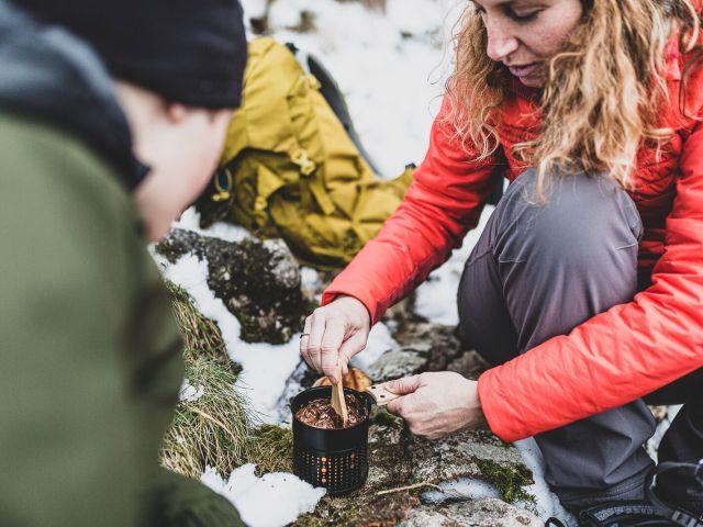 Déguster une fondue au chocolat en pleine nature