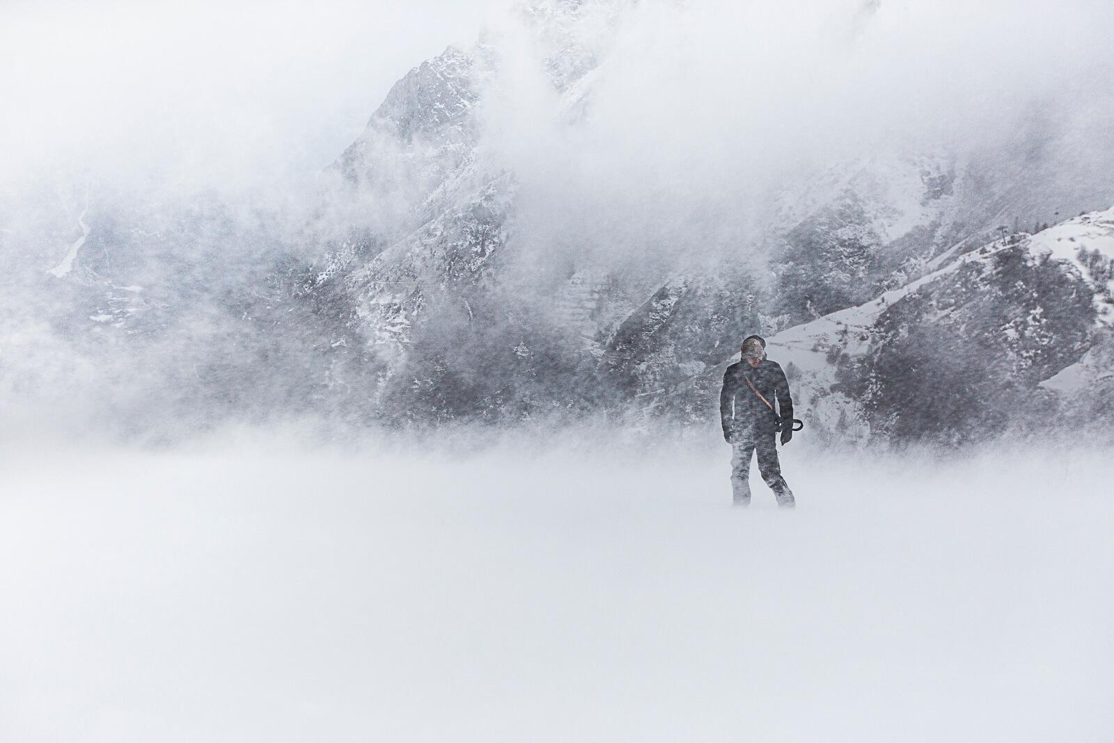 Tempête de neige hiver aux Deux Alpes