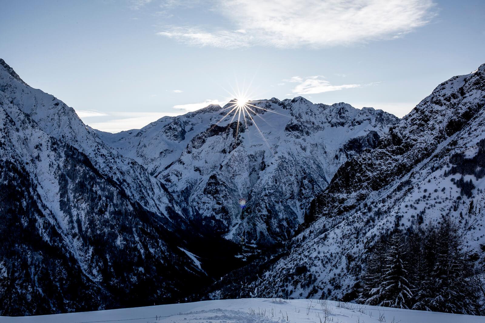 Hiver aux Deux Alpes soleil et neige