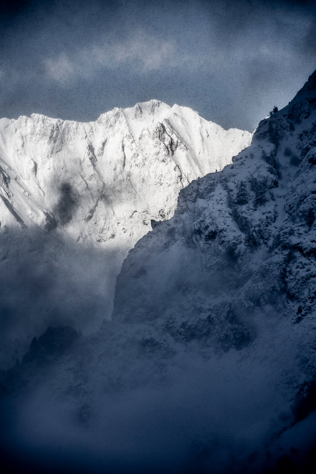 La montagne, vue des Deux Alpes