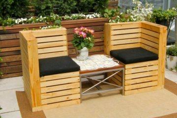 canapé de palette pour le jardin