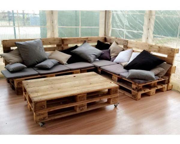 canapé palette bois