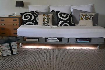 canapé sur palette bois