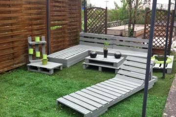 palette canape de jardin