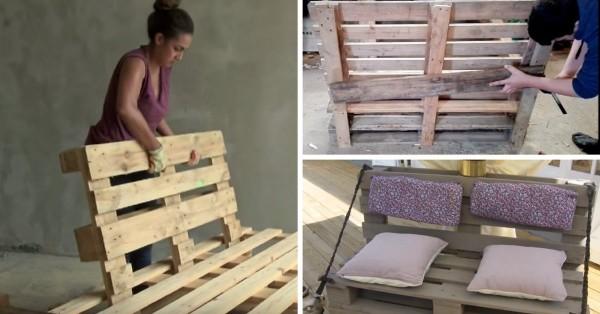 plan de fabrication canapé en palette