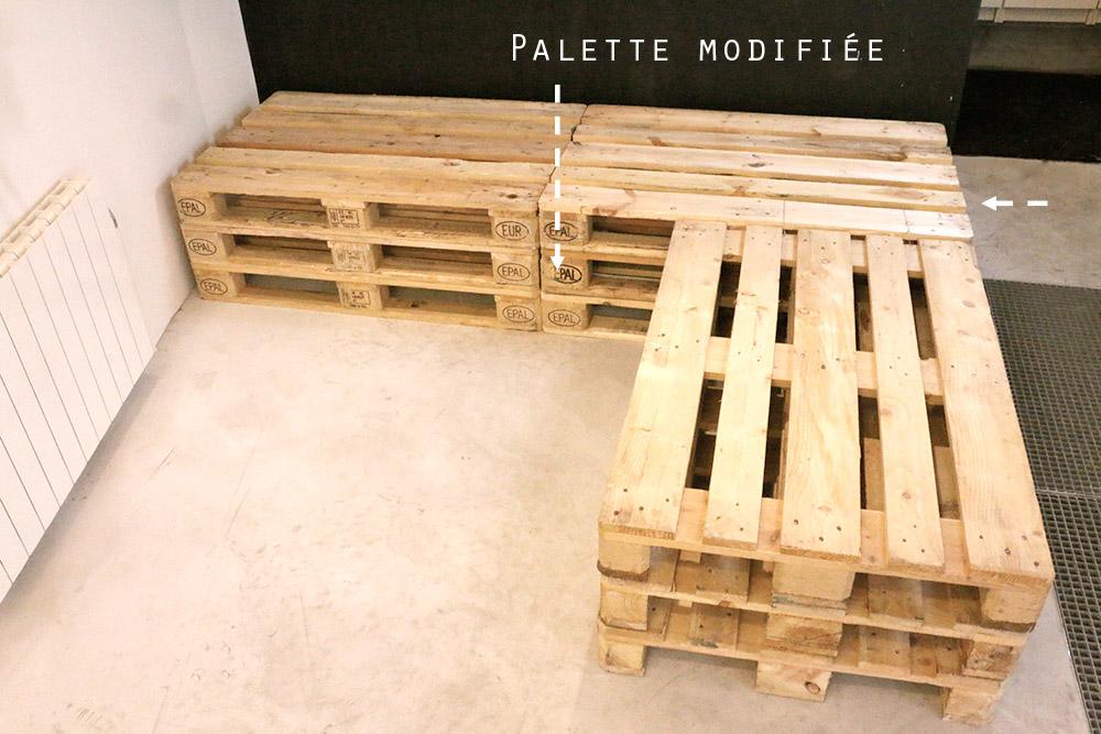 canapé u palette