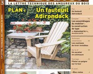 fauteuil de jardin style adirondack