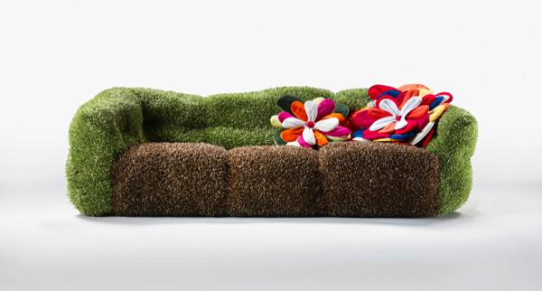 beau canapé en tissu
