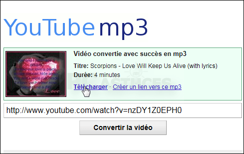 youtube convertisseur mp3 copier coller