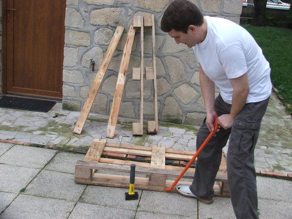 palette en bois pour faire une terrasse