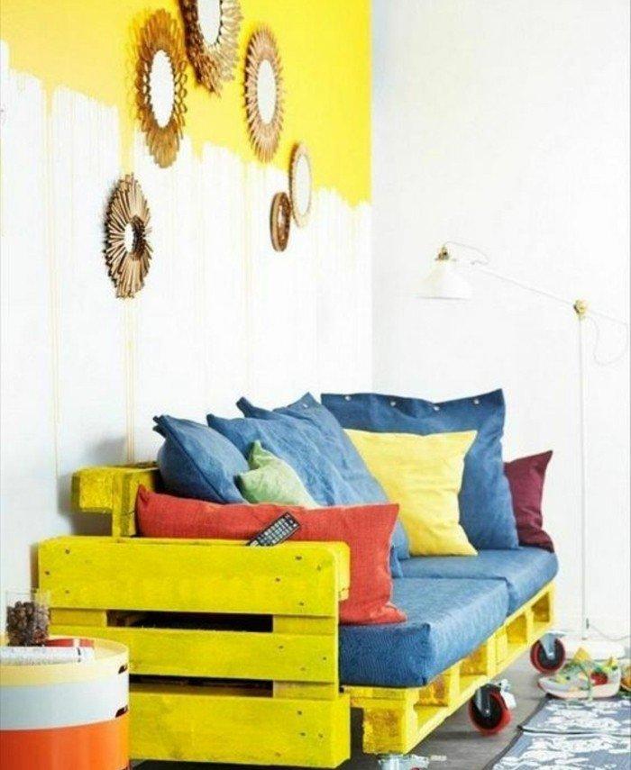 plan de canapé en palette