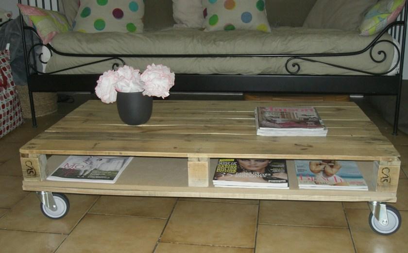 table basse en palettes plan montage