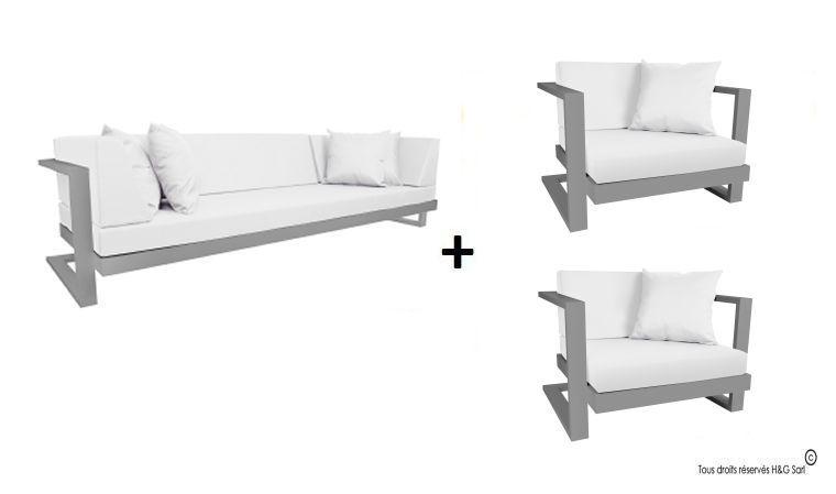 canapé extérieur aluminium