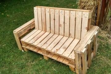 canapé en bois de palette