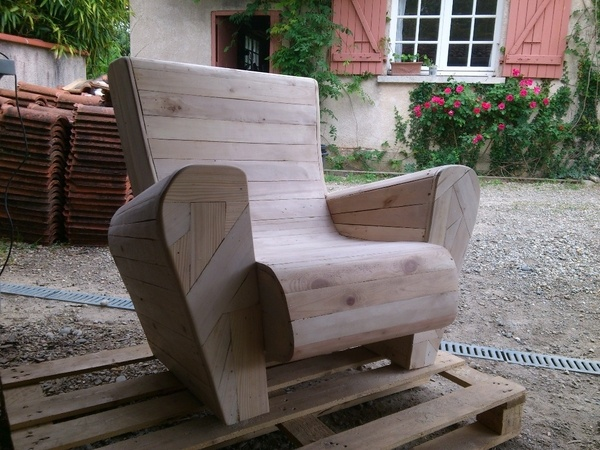 chaise en palette plan