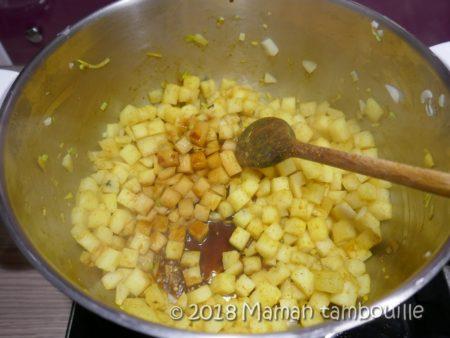 émincé de poulet au curry