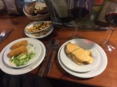 Strogonof de légumes et croquettes au fromage