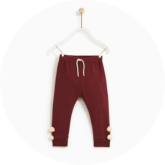 pantalon-rouille-pompons-zara-legging