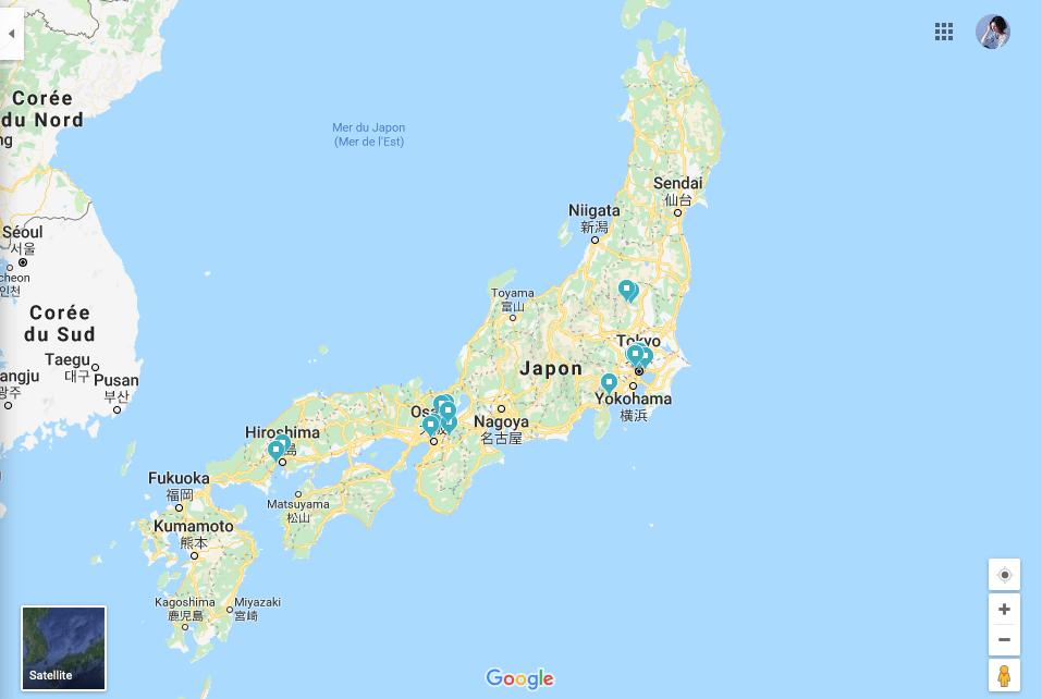 point-interet-japon-voyage-google-map
