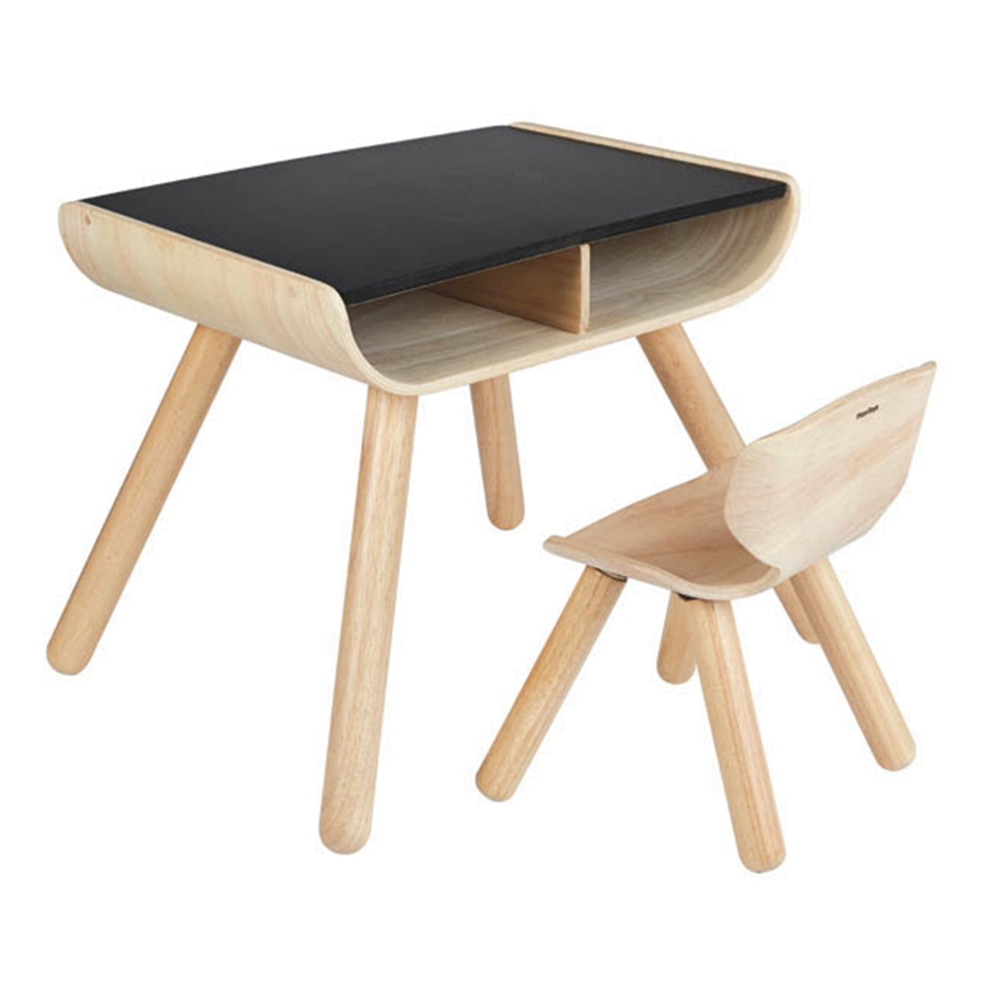 plan-toys-bureau-craie-chaise-bois