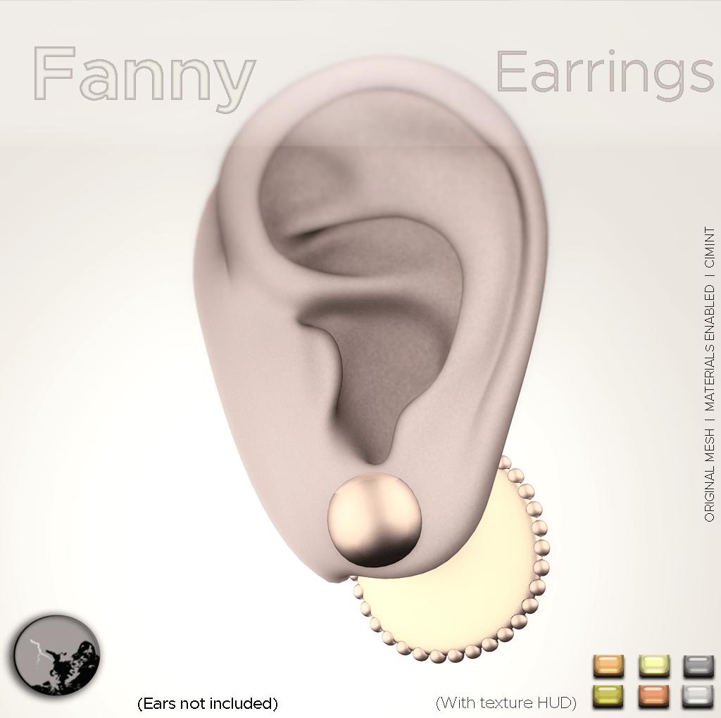 Fanny Earrings @ the Hidden Chapter ...Now !