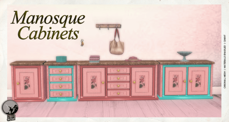Manosque Cabinets : Mainstore Release graphic