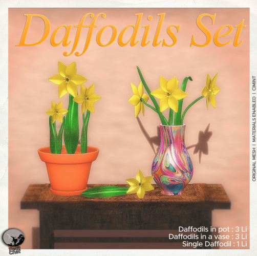 Daffodils Set : New release and groupgift for April ! graphic