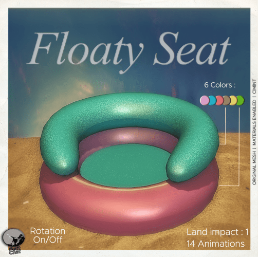Floaty Seat : New release graphic