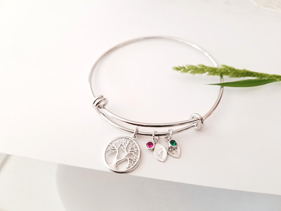 Family Tree Bracelet by LaLaCrystal   Mother's Day Gift Guide