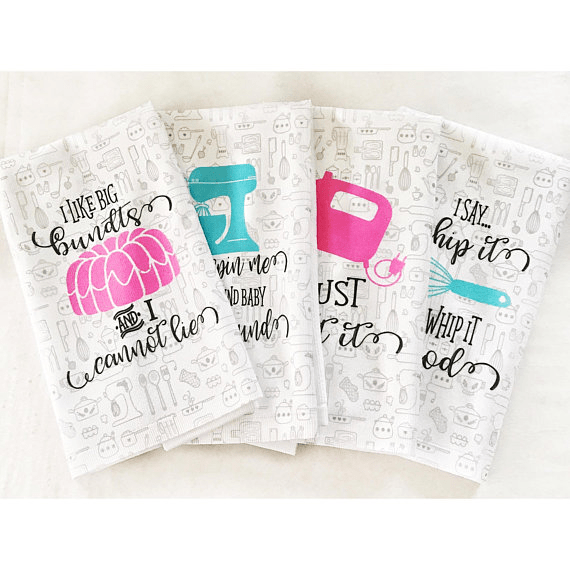 Funny Dish Towels by Works of Heart Design Co | Mother's Day Gift Guide