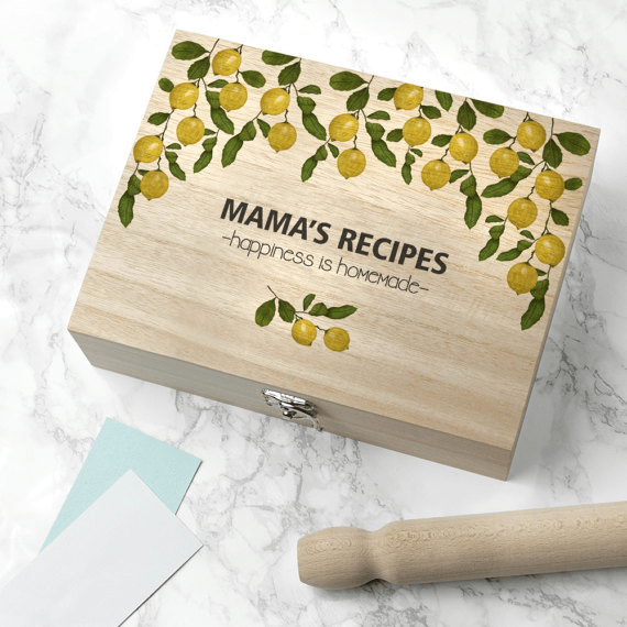 Lemon Grove Recipe Box by Serendipity Vita | Mother's Day Gift Guide