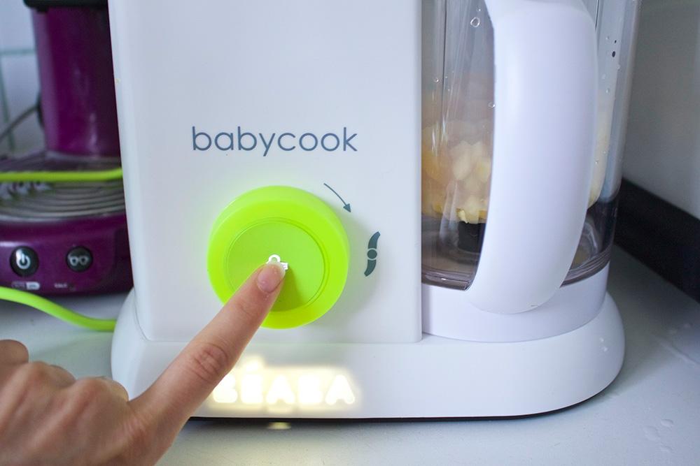 Appuyer sur le bouton pour lancer la cuisson