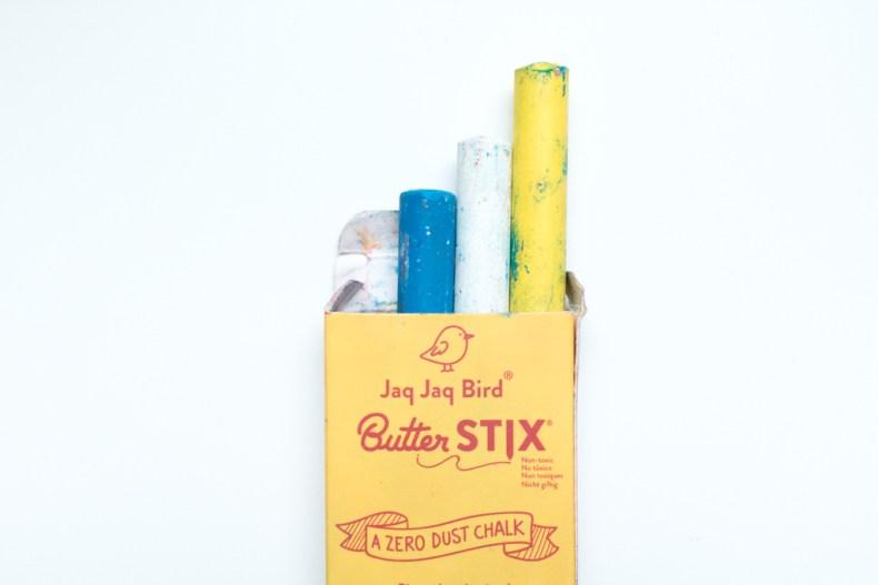 Butter Stix craies effaçables à l'huile de soja