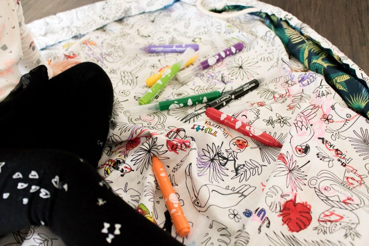 Le tapis nomade à colorier de Rozyli