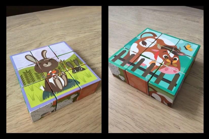 Les puzzles pour 4 ans et avant peuvent aussi être sous forme de cubes